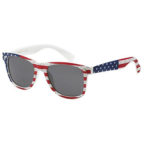 365eef624c8db POLARSPEX POLARIZED UNISEX 80 S RETRO CLASSIC TRENDY STYLISH SUNGLASSES  (American Flag
