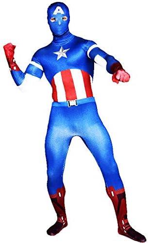 FYBR Disfraz de Capitán América SuperSkin para Adulto, Unisex ...