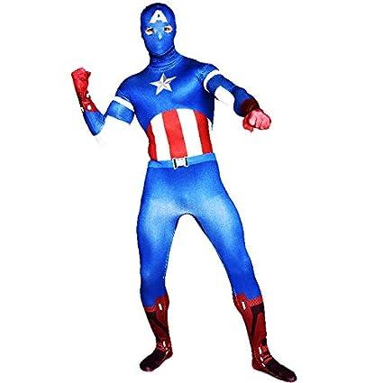 FYBR Disfraz de Capitán América SuperSkin para Adulto ...