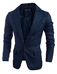 newrong Men's Lightweight One Button Blazer