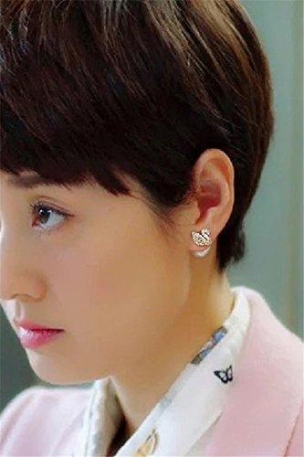 Generic My_Life, MAI_,_with ear Nail pearl _lo-jun swan versatile_ earrings Earring eardrop _925_ silver _ear-Pin_ women girls