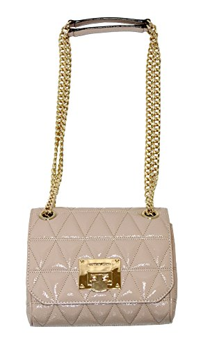 e2d4383b7c59 MICHAEL Michael Kors VIVIANNE Small Women s Shoulder Flap Leather Handbag  (Oyster) by MICHAEL Michael