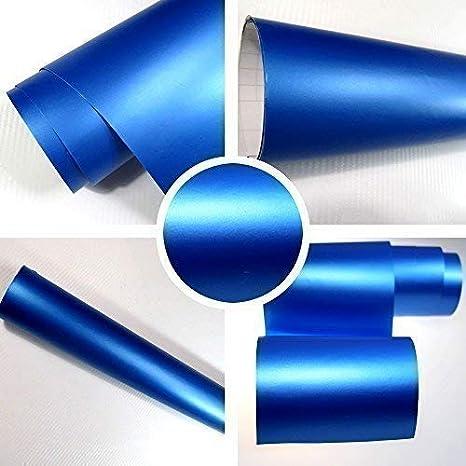 Tiptopcarbon 6 58 M Autofolie Selbstklebend Matt Blau 0 3m X 1 52m Auto Folie Mit Luftkanälen 3d Flex Küche Haushalt