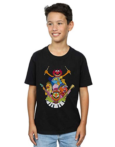 Disney Boys The Muppets Dr Teeth and The Electric Mayhem T-Shirt Black 7-8 Years