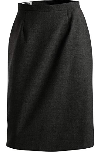(Edwards Women's Wool Blend Straight Skirt, Charcoal, 16)