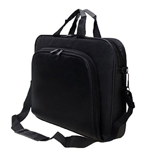 Messenger Bag For 15 Inch Laptop Computer Bag Macbook Shoulder Bag Business Backpack College Bookbag Travel Business Backpack Black Bag by FL Margaret (Image #2)'