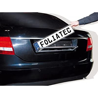 Foliatec FT35402 Swiss Click Numberplate Surround, Brushed Chrome: Automotive