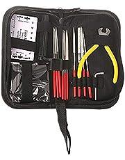 SODIAL Guitar Repair Kit,Set of 14pc Repair & Maintenance Tools with Guitar Needle File/String Action Ruler Gauge/Guitar String Winder and Cutter/Guitar Wrench