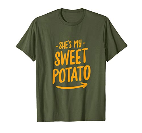 She's My Sweet Potato T-Shirt I YAM Couple's Matching Shirt T-Shirt (Little Bitz Sweet Potato)