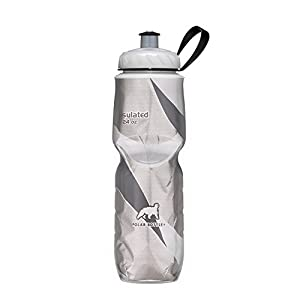 Polar Bottle Insulated Water Bottle (24-Ounce) (Black Graphic)