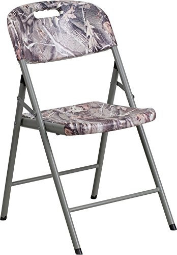 Flash Furniture Camouflage Plastic Folding Chair