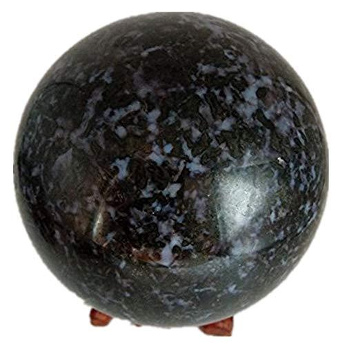 lixuan Indigo Gabbro Crystal Sphere Upper Chakra Activation Stone Healing Sphere 40-45mm