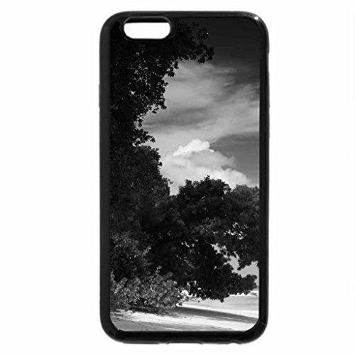 iPhone 6S Plus Case, iPhone 6 Plus Case (Black & White) - BARBADOS BEACH