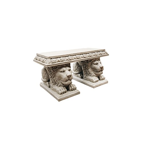 Design Toscano Grand Lion of St. John's Square Sculptural Bench Review