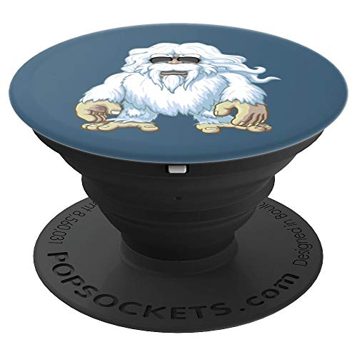 (Cool Mountain Snowman Yeti - PopSockets Grip and Stand for Phones and Tablets)