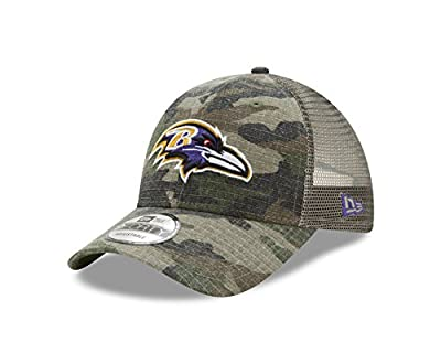 Baltimore Ravens Camo Trucker Duel New Era 9FORTY Adjustable Snapback Hat / Cap by New Era