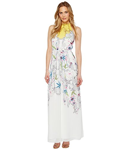 Ted Baker Women's Ellly Passion Flower Maxi Dress Yellow 5 (Ted Baker Maxi Dress In Pure Peony Print)