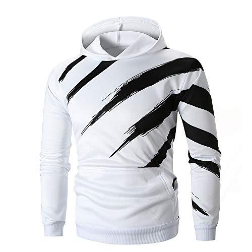 Hooded Printed Long Sleeve Hoodie Sweatshirt TopTee Outwear ()