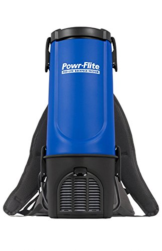 Powr-Flite BP4S Pro-Lite Backpack Vacuum, 22.5'' Height, 9.5'' Length by Powr-Flite