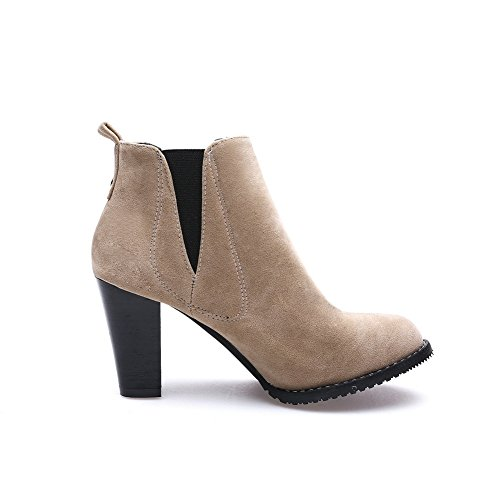 Ankle Beige AdeeSu Closure Suede Occasion No Womens Special High SXC02463 Boots B6n6451q