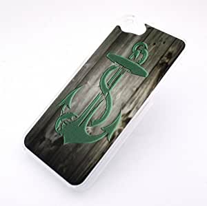 CLEAR Snap On Case IPHONE 5 Plastic Cover - WOOD TEAL ANCHOR wooden tiffany mint blue brown boat hope love sink
