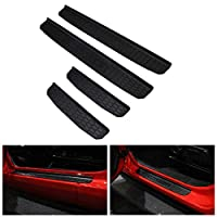 For 2018 Jeep Wrangler JL 4 Door Sill Scuff Plate Entry Guard Honeycomb Door Sills Step Protector Stickers Trim Interior For JL