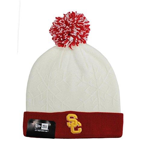 NEW ERA Trojans USC Beanie College Football Headwear Snow Crown Hat Knit