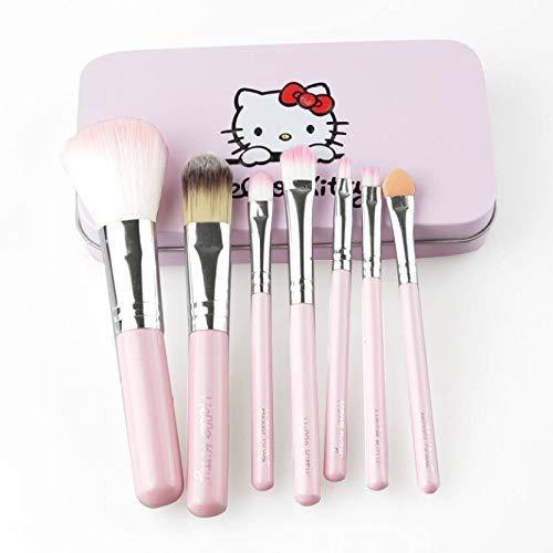 Preyansh Hello Kitty Makeup Brush , Pink -Set of 7