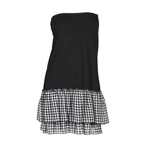 Peekaboo-Chic Cottage Check Half Slip Skirt Extender (Black, l/XL) by Peekaboo-Chic (Image #3)