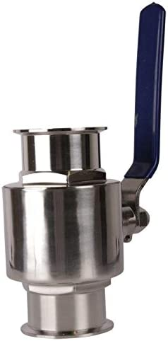 Ball Valve Glacier Tanks Tri Clamp 1.5 inch Stainless Steel SS304 // PTFE