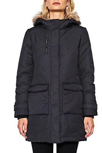 001 Esprit Noir Black Femme Manteau OqZBg