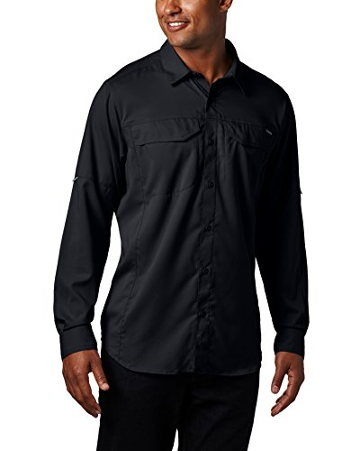 Columbia Mens Silver Ridge Lite Long Sleeve Shirt  Large  Black