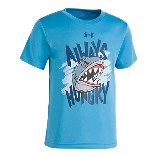 Under Armour Boys' Toddler Graphic SS Tee Shirt, Ether Blue-S19, 3T Boys Blue Ss Shirt Top