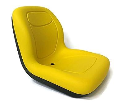 New Yellow HIGH BACK SEAT for John Deere Lawn Mower Models L100 L105 L107 L110 ,,#id(theropshop; TRYK130271625828623