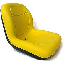 Milsco Yellow HIGH BACK SEAT for Hustler ZTR Zero Turn Lawn Mower Garden Tractor by The ROP Shop