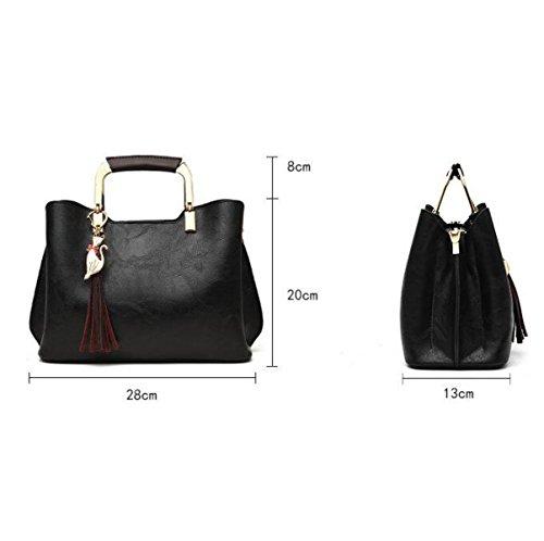 Black De De Mujer Para Bolso Retro Atmosfrico Moda Bolso Simple Bolsa Hombro Para De Mensajero 6wqAndp