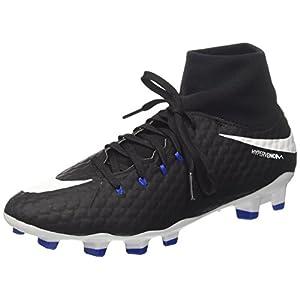 NIKE Men's Hypervenom Phelon 3 Dynamic Fit Firm Ground Soccer Shoes (9 D(M) US, Black/White)