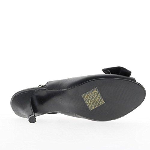 Nodo decorativo e tacco 9cm Nero sandali