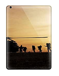 For Ipad Air Tpu Phone Case Cover(helicopter Army Desktops)