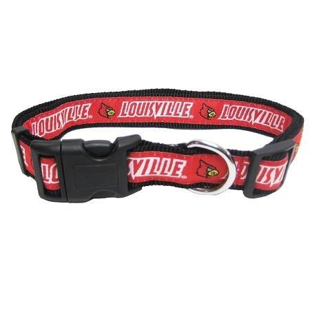 Pets First Louisville Cardinals Team Pet Dog Belt Collar Medium