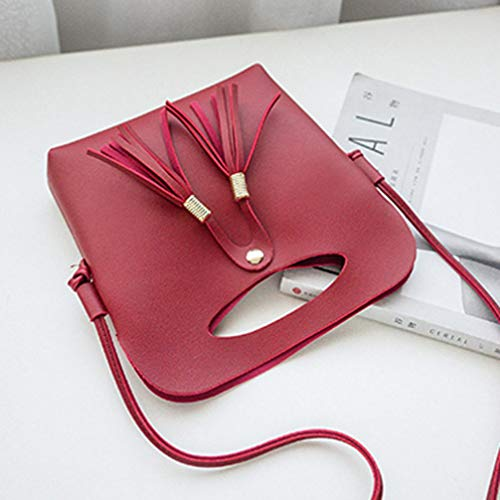 Red Bags Hombro para al Crossbody showsing Small Mujer Negro Bolso fqFnH