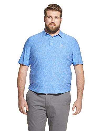 IZOD Men's Big and Tall Golf Title Holder Short Sleeve Solid Polo
