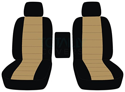 2009-2014 Ford F-150 Two-Tone Truck Bucket Seat Covers Center Armrest: Black &...