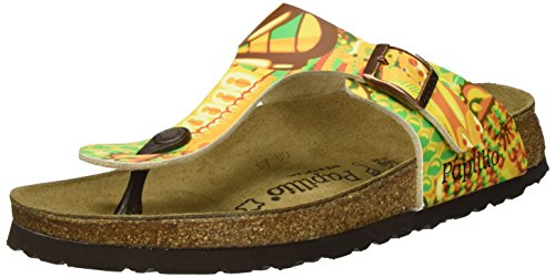 Papillio Gizeh Birko-Flor, Chanclas Para Mujer Mehrfarbig (African WAX Gold)