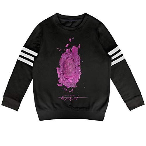 ZYALO Kids Outfit Boys Black Nicki-Minaj-The-Pink-Print- Pullover Long -