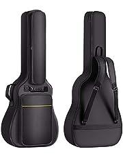 CAHAYA Bolsa para guitarras acústica de 40 de 41 pulgadas acolchado grueso de 0,3 pulgadas impermeable funda de guitarras con gancho trasero y bolsillo para soporte de música