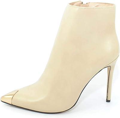 Malu Shoes Glam Baguette Nue Beige en Cuir pour Femme à