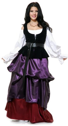 [Charades Renaissance Purple Country Wench Adult Costume As Shown - Small] (Male Wench Costume)