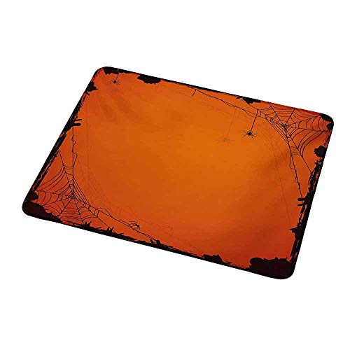 Rectangle Non-Slip Rubber Mouse Pad Spider Web,Grunge Halloween