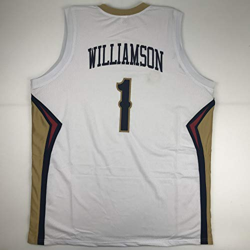 Hall Of Fame Sports Memorabilia - Unsigned Zion Williamson New Orleans White Custom Stitched Basketball Jersey Size Men's XL New No Brands/Logos